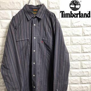 Timberland - *ティンバーランド*長袖シャツ*刺繍ロゴ*ビックシルエット*Lサイズ*