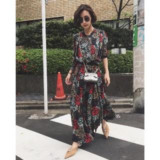 Ameri VINTAGE - アメリヴィンテージ BOUQUET PLEATS DRESS