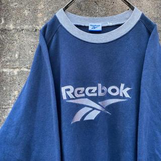 Reebok - 90's reebok リーボック 刺繍ロゴ トレーナー 古着 L