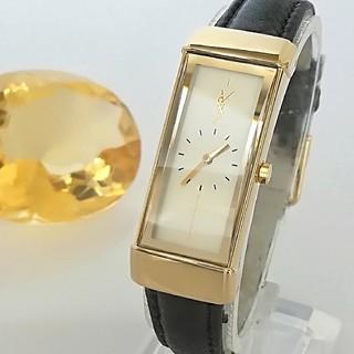 Saint Laurent - 綺麗 サンローラン ガラス 新品レザー レディースウォッチ 時計 グッチも 美品