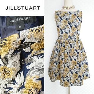 JILLSTUART - 美品◆約4万【JILLSTUART*ジルスチュアート】ジャガード花柄ワンピース