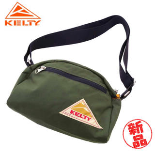 ケルティ(KELTY)の【新品・未使用】KELTY ROUND TOP BAG S  OLIVE(ショルダーバッグ)