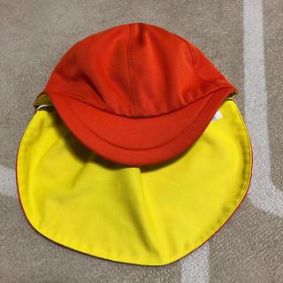 カラー帽 オレンジ×イエロー フリーサイズ(帽子)