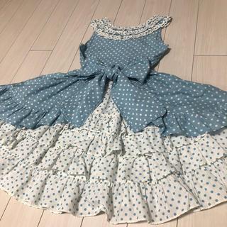 Shirley Temple - シャーリーテンプル 水玉フリルワンピース 130cm