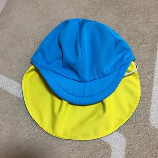 カラー帽 水色×イエロー フリーサイズ(帽子)