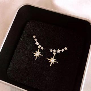 AHKAH - gold star zirconia pierce ◯s925 post