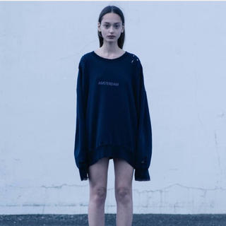 SUNSEA - stein oversized Rebuild  Sweat  LS