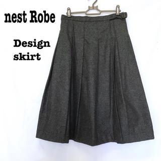 ネストローブ(nest Robe)の美品【 nest Robe ネストローブ  】 デザインスカート ウールスカート(ロングスカート)