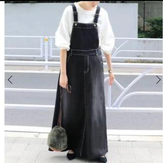 IENA SLOBE - SLOBE IENA◇LE DENIM ボリュームフレアジャンパースカート
