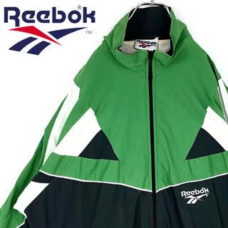リーボック(Reebok)のリーボック 90s ゆるだぼ ナイロンジャケット ブルゾン ワンポイントロゴ刺繍(ナイロンジャケット)