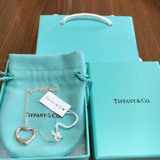 Tiffany & Co. - ティファニー ネックレス オープンハート 未使用
