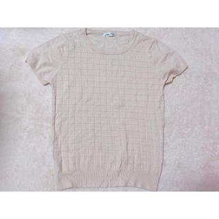 しまむら - しまむら Tシャツ ニットTシャツ ニットT ティーシャツ M ベージュ