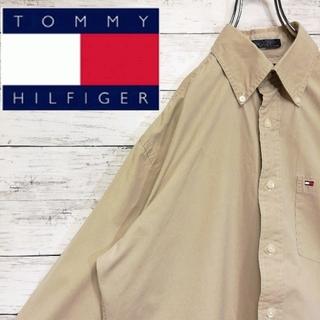トミーヒルフィガー(TOMMY HILFIGER)のトミーヒルフィガー 長袖 ボタンダウンシャツ 刺繍ロゴ 古着(シャツ)