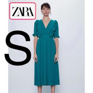 ザラ(ZARA)の大人気完売!ZARA  シフォン フリル シャーリング マキシワンピース (ロングワンピース/マキシワンピース)