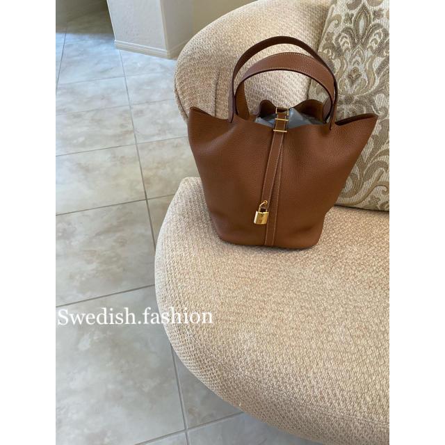 Hermes(エルメス)の新品◆エルメス◆ピコタンロックGM◆ゴールド×ゴールド レディースのバッグ(ハンドバッグ)の商品写真