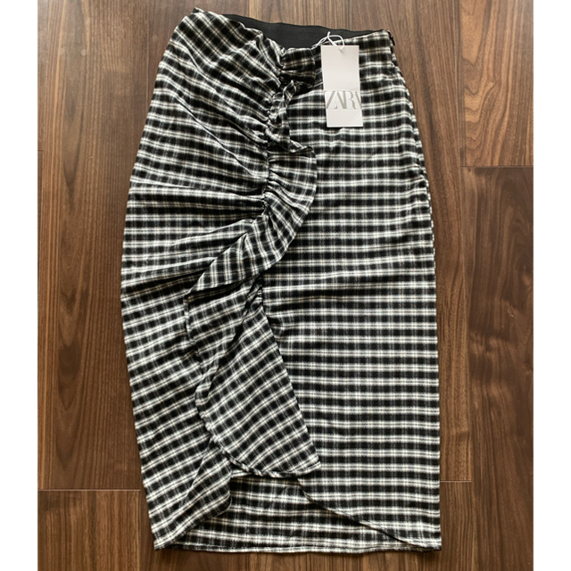 ZARA(ザラ)の最終値下げ ZARAザラチェックカラースカート新品 レディースのスカート(ひざ丈スカート)の商品写真