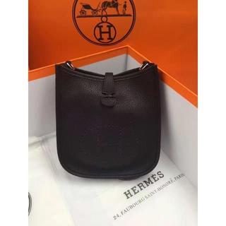 Hermes - ブラックショルダーバッグ