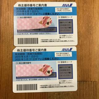 ANA(全日本空輸) - ANA 株主優待券 2枚(5/31期限)