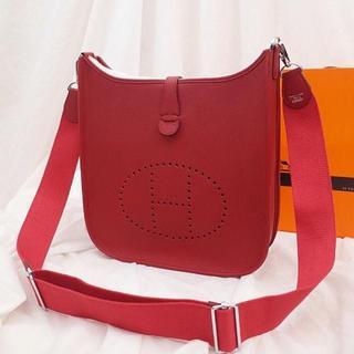 Hermes - 赤PMショルダーバッグシルバー金具