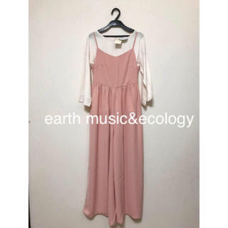 earth music & ecology - 未使用品!earth music&ecology サロペットパンツ