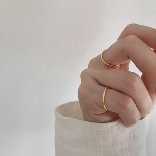 TODAYFUL - Silver925,k18_ Emma thin ring
