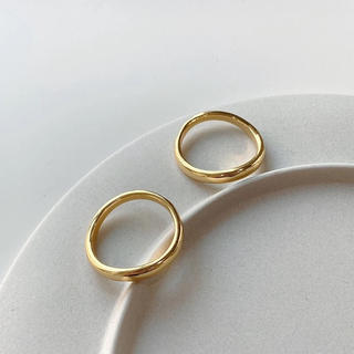 TODAYFUL - Silver925,k18_ Classic curve ring