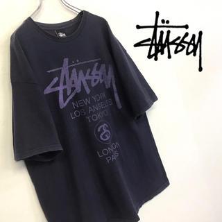 STUSSY - 美品 古着 STUSSY ワールドツアーTシャツ