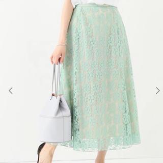 イエナ(IENA)の【IENA】フレアーフラワーレーススカート 36サイズ(ロングスカート)