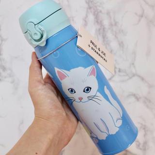 Starbucks Coffee - 【新品】スターバックス ポールアンドジョー コラボ ステンレスボトル 猫 白猫