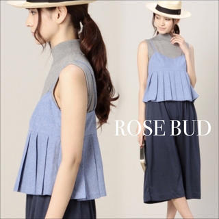 ROSE BUD - ROSE BUD プリーツ キャミソール ビスチェ♡ユナイテッドアローズ ザラ