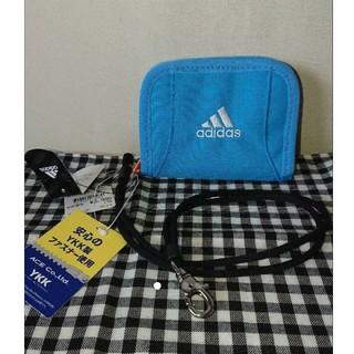 アディダス(adidas)の新品★アディダス折り財布【水色】(折り財布)
