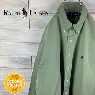POLO RALPH LAUREN - 【レア】ポロ ラルフローレン シャツ ビッグシルエット 刺繍ワンポイントロゴ