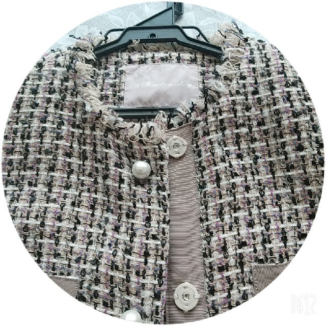 31 Sons de mode(トランテアンソンドゥモード)のツイードコート レディースのジャケット/アウター(ロングコート)の商品写真