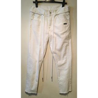 オフホワイト(OFF-WHITE)の【美品】off white White slim Jeans(デニム/ジーンズ)