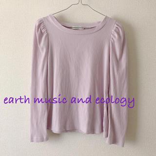 earth music & ecology - earth*テレコパワショルプルオーバー
