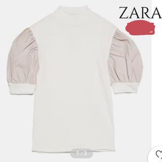 ZARA - コンビ生地Tシャツ
