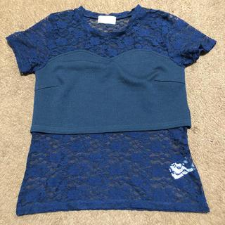 レピピアルマリオ(repipi armario)のレピピアルマリオ レーストップス M size(Tシャツ/カットソー)