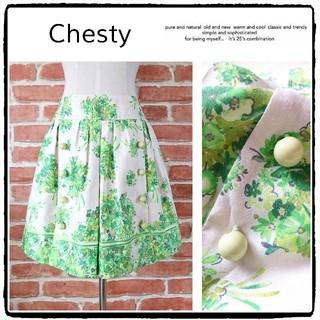 チェスティ(Chesty)の美品◆Chesty*チェスティ◆花柄スカート(ミニスカート)