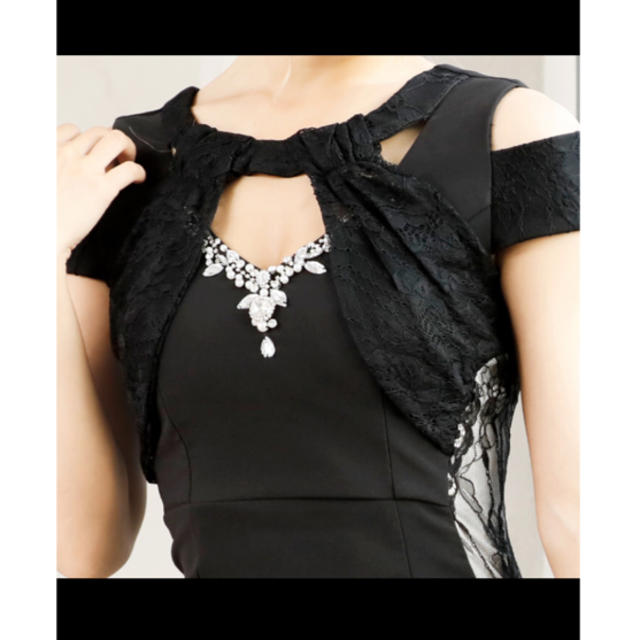 JEWELS(ジュエルズ)の【超美品】Jewels / サイドレースミニドレス / アシメ レディースのフォーマル/ドレス(ナイトドレス)の商品写真