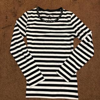 レピピアルマリオ(repipi armario)のレピピアルマリオ ボーダーロンT  XS size(Tシャツ/カットソー)