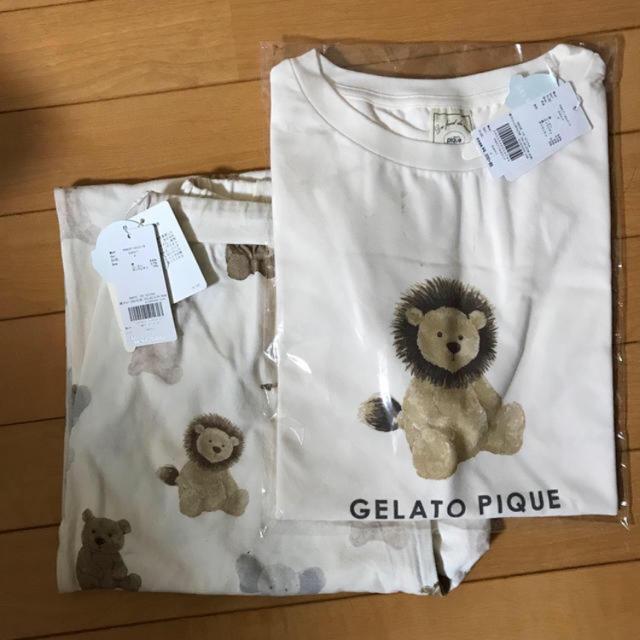 gelato pique(ジェラートピケ)のgelato pique   アニマルTシャツ、ロングパンツセット レディースのルームウェア/パジャマ(ルームウェア)の商品写真