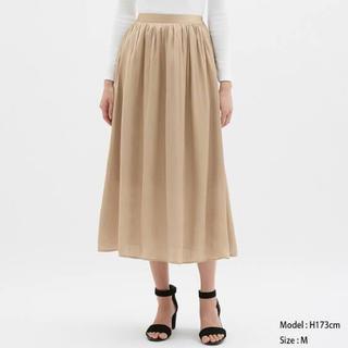 ジーユー(GU)のサテンエアリーロングスカート GU(ロングスカート)