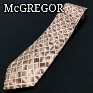マックレガー(McGREGOR)のマクレガー マクレガー ライトベージュ&グリーン ネクタイ A104-D01(ネクタイ)