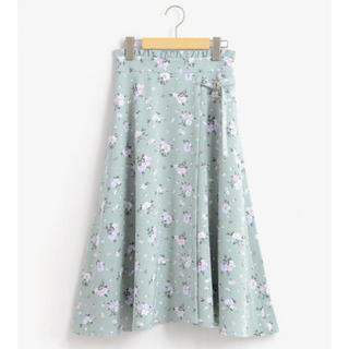 MAJESTIC LEGON - サイドベルト中花柄スカート