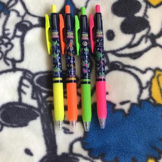 Disney - ゼブラ SARASA トイストーリー 蛍光カラーボールペン 4色セット