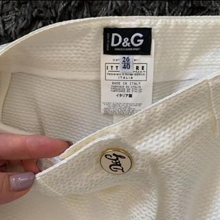 ドルチェアンドガッバーナ(DOLCE&GABBANA)のDOLCE&GABBANA ホワイト パンツ(カジュアルパンツ)