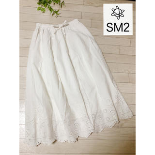 SM2 - ✨人気商品✨サマンサモスモス 綿麻刺繍スカラップスカート