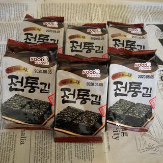 パリパリ食感が美味☆ 韓国海苔 6パック(60枚入り)(乾物)