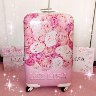 リズリサ(LIZ LISA)の☆リズリサLIZLISA☆ピンク×花柄☆キャリーバッグ☆新品(スーツケース/キャリーバッグ)