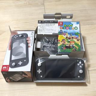 Nintendo Switch - スイッチ ライト Switch Lite 本体 グレー どうぶつの森 セット
